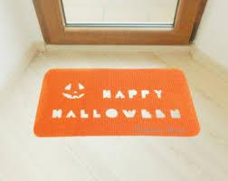 bat rug halloween rug custom doormat bat silhouette