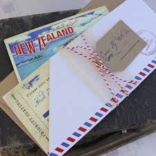 wedding invitations new zealand vintage air mail boarding pass wedding invitation new zealand