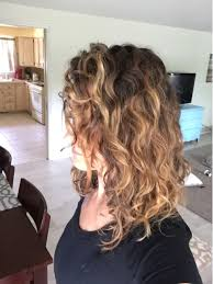 balayage naturally curly hair done by sarah collier hair