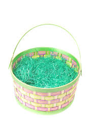 easter basket grass empty easter basket with green grass on white stock photo image