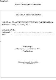 format laporan praktikum format laporan akhir softcover ekotoksikologi fpik unpad