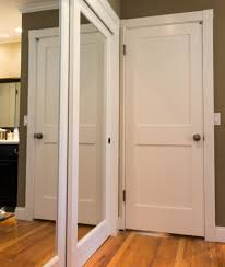 modern white wood panel simpson door design collections with great
