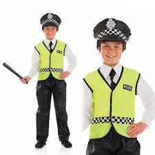 Police Halloween Costume Kids Child British Policeman Costume Boys Girls Book Week Fancy