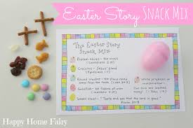 easter story snack mix free printable happy home fairy