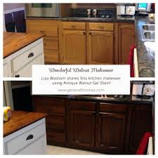 Diy Gel Stain Kitchen Cabinets General Finishes Antique Walnut Gel Stain Helped Lisa Washam