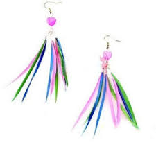 feather earrings for kids kids pink feather flock earring hair factory kolkata id