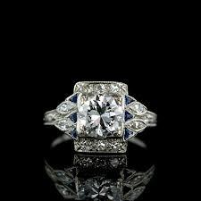 art deco style diamond ring jewelry store san diego custom