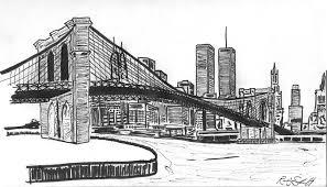 drawn city ny skyline pencil and in color drawn city ny skyline