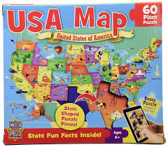Delaware Map Usa by Amazon Com Masterpieces Usa Map Jigsaw Puzzle 60 Piece Toys U0026 Games