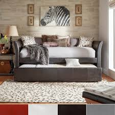 bedroom adorable appereance and designs daybed with pop up fantastic bedding design in grey leather deco faux daybed with pop up trundle bed suitable combined