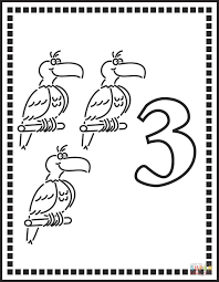 parrots coloring pages number 3 or three parrots coloring page free printable coloring