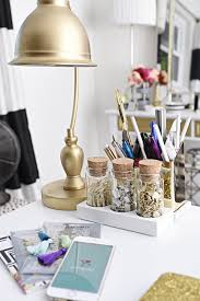 a glam and gold home office featuring office supplies and decor from target the gallery