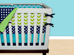 Navy Blue Chevron Crib Bedding by Baby Boy Crib Bedding Giggles 5pc Crib Bedding Set The Important