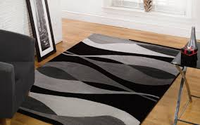 Plaid Area Rug Rugs Black And White Floor Rug Breathtaking Black And White