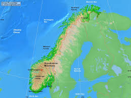 Barents Sea Map Norway Physical Map A Learning Family