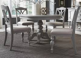 summer house round pedestal dining set in dove grey liberty summer house round pedestal dining set in dove grey