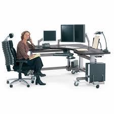 Anthro Sit Stand Desk Computer Workstation Radiology Height Adjustable