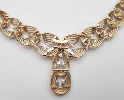 diamonds gold necklace images Retro era gold diamond rope necklace 18kt gold platinum jpg