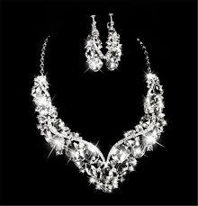 wedding jewelry necklace sets images Women 39 s fashion korean european style wedding jewelry earrings jpg