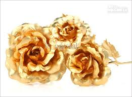 golden roses 2018 golden with gold plated stem for mothers day