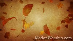 vintage thanksgiving falling leaves loop by motion worship