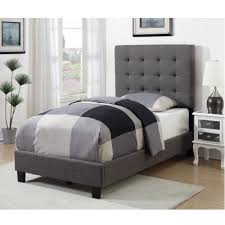 American Woodcrafters Bunk Beds American Woodcrafters Kenzie Warm Grey Tufted Upholstered Bed