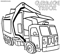 garbage truck coloring pages to print in trash page glum me