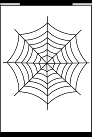 Coloring Spider Web Coloring Page Spider Web Coloring Page