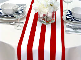 red and white table runner choose your table runner red white striped table runners for