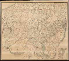 map of maryland delaware and new jersey post route map of the states of pennsylvania new jersey delaware