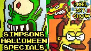 halloween pixel background perler bead simpsons halloween specials pixel art show youtube