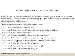 top 5 virtual assistant cover letter samples 1 638 jpg cb u003d1434846329