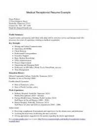 resume examples veterinary receptionist profile summary resume