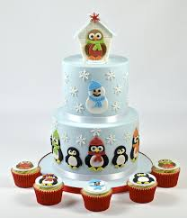 fmm cake icing cutters mummy and baby penguin snowman robin