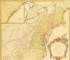 Map Of East United States by 18th Century Hand Colored Map Of English Colonies In America 1755