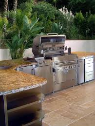 Outdoor Kitchen Cabinet Kits Outdoor Modular Outdoor Kitchen Ideas With Stainless Cabinet And