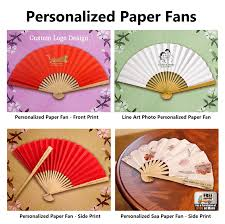 custom paper fans 0 99 sle personalized fan shipping fee