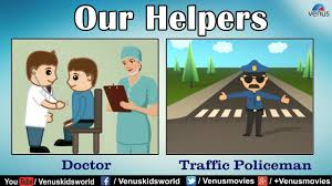 our helpers teacher doctor police men youtube