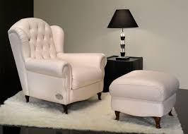 Chesterfield Style Armchair Chesterfield Armchair Fabric Leather With Footrest My