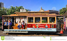 San Francisco Cable Cars Map by San Francisco Powell U0026 Hyde Cable Car Passengers Editorial Stock