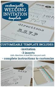 wedding invitation inserts customizable wedding invitation template with inserts