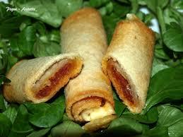recette de canapé avec de mie petits cigares de de mie au chorizo pique assiette