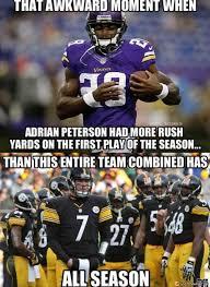 Pittsburgh Steelers Memes - peterson rushing total meme