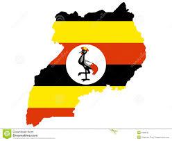 Uganda Africa Map by Uganda Map Stock Photo Image 19253320