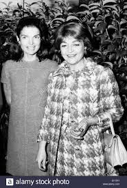 first lady jackie kennedy onassis with friend stock photo royalty
