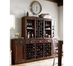 Pottery Barn Wine Racks Modular Bar Cabinet With 1 Wine Hutch U0026 2 Open Hutch Pottery Barn