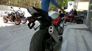 bmw s1000rr india 2017 bmw s1000rr start up exhaust in india