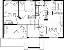 split bedroom floor plan house plans 4747