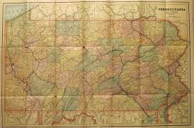 map paper pennsylvania in early pocket maps