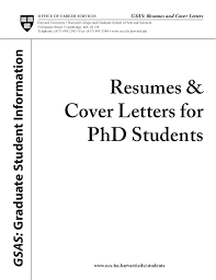 phd resume cover letters